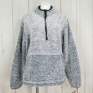 Unisex Gray Sherpa Pullover | Royal Class - XL